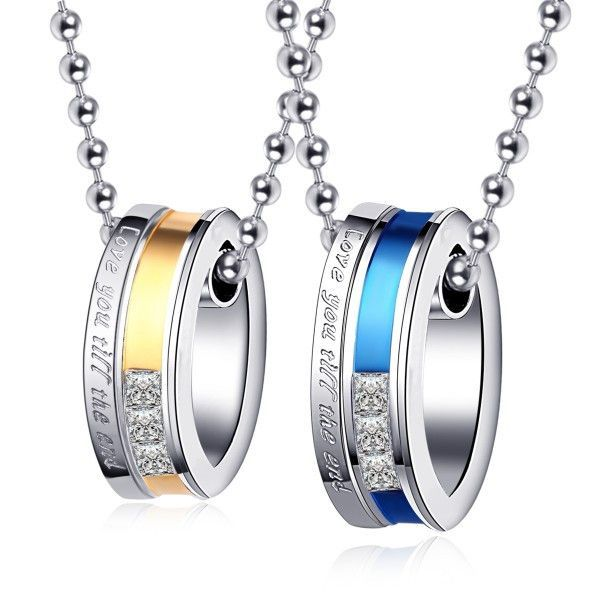 ca6008dfdf Love You Till The End' Titanium Steel Couple Necklaces | gift ideas ...