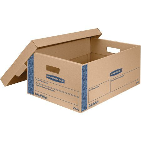 Bankers Box Fel0066001 Smoothmove Large Moving Boxes 8 Carton