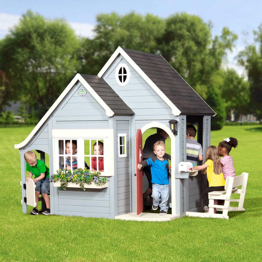 Backyard Discovery Spring Cottage Cedar Playhouse | Play ...