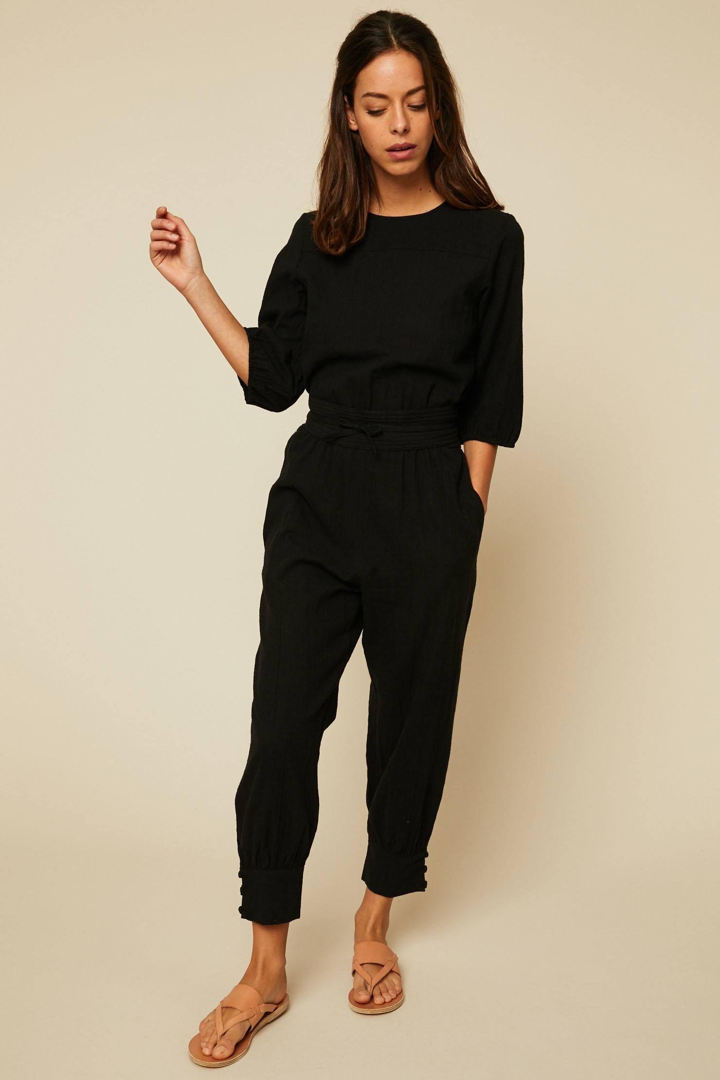 3b46e08672a Polder Salvador Combi-pantalon taille élastique noir en 2019