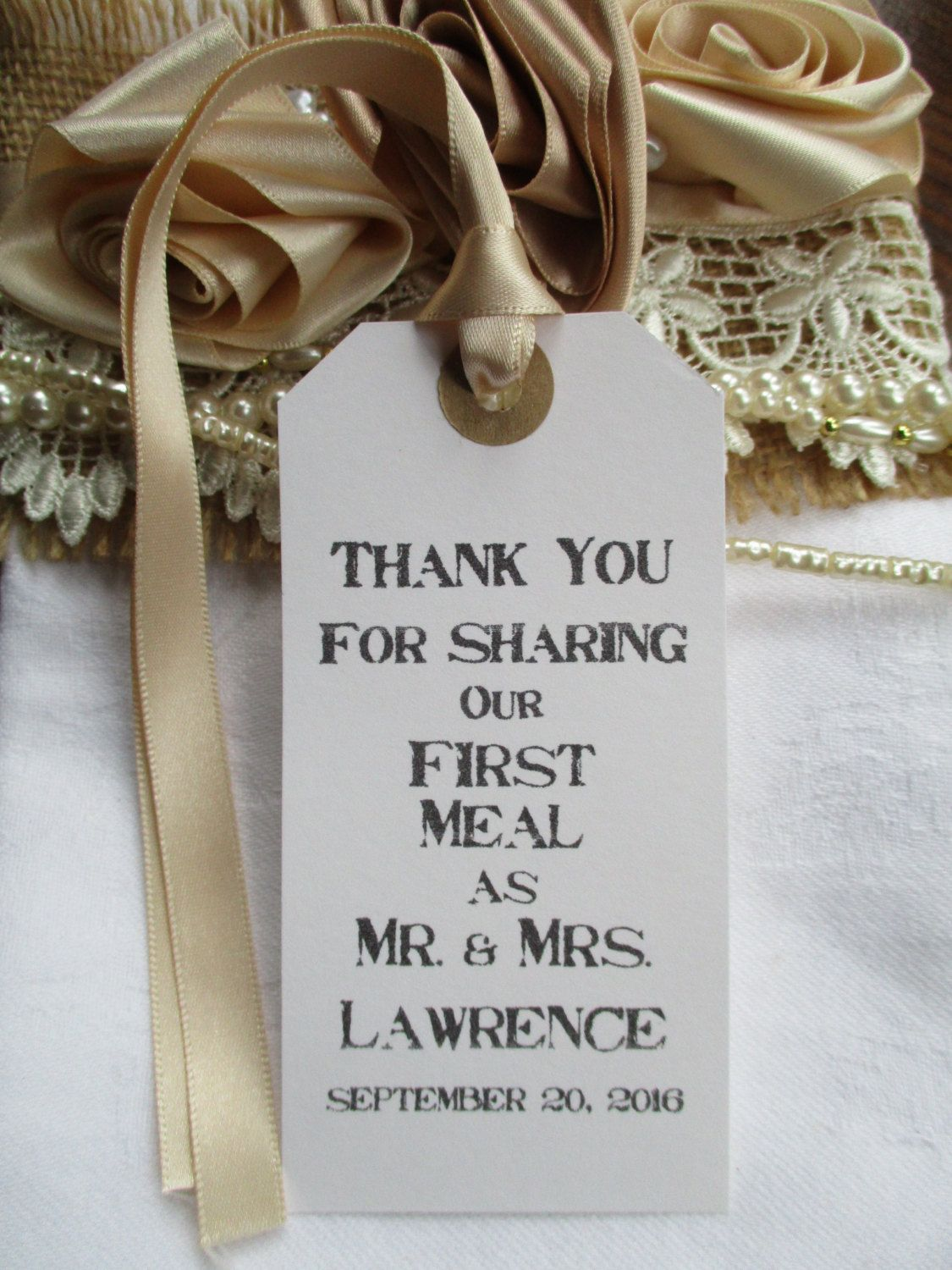 Thank You for Sharing Our First Meal- Rustic Wedding Table Decor ...