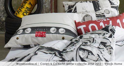 Vrolijk en eigentijds. Dat is waar Covers & Co voor staat. Een uitgesproken collectie bestaande uit verrassende dessins voor een ongedwongen creatieve stijl in huis. http://www.wonenonline.nl/slaapkamers/bedtextiel-covers-co-herfst-winter-2012.html