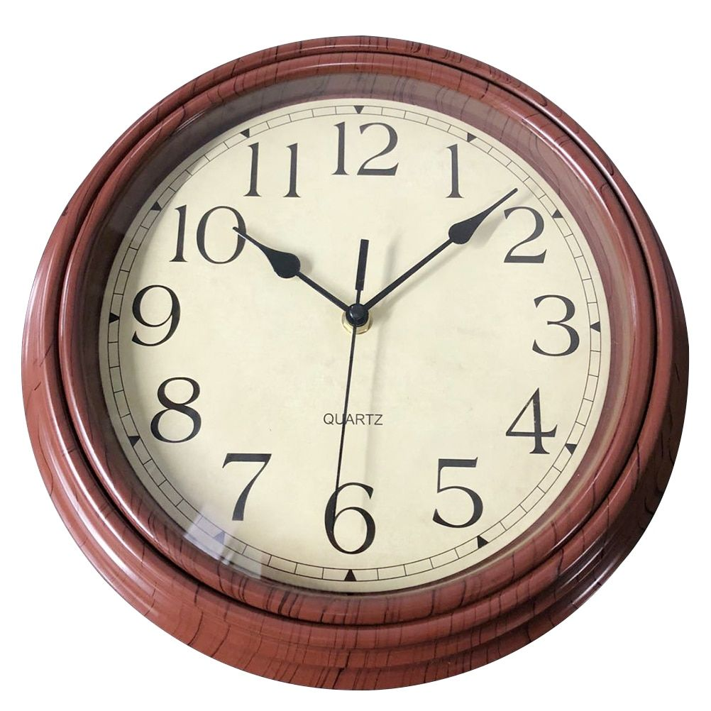12 Inch Vintage Style Silent Wooden Decorative Round Wall Clocks Non Ticking Wall Clock Quartz Clock Bedroom Home Office Decor Large Wall Clock Modern Wall Clock Round Wall Clocks