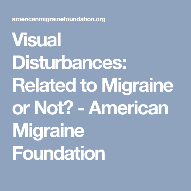 visual disturbances: related to migraine or not? - american, Skeleton