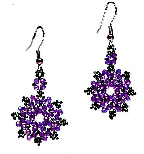 Daisy Beaded Earrings Pattern Free From Bead Magic Faceted Or Round Beads And Seed Plus French Hook Jewelry Findings