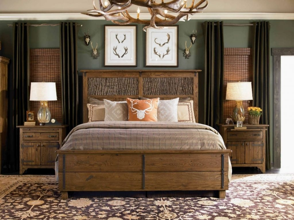 Beautiful rustic furniture designs to complete your cabin light