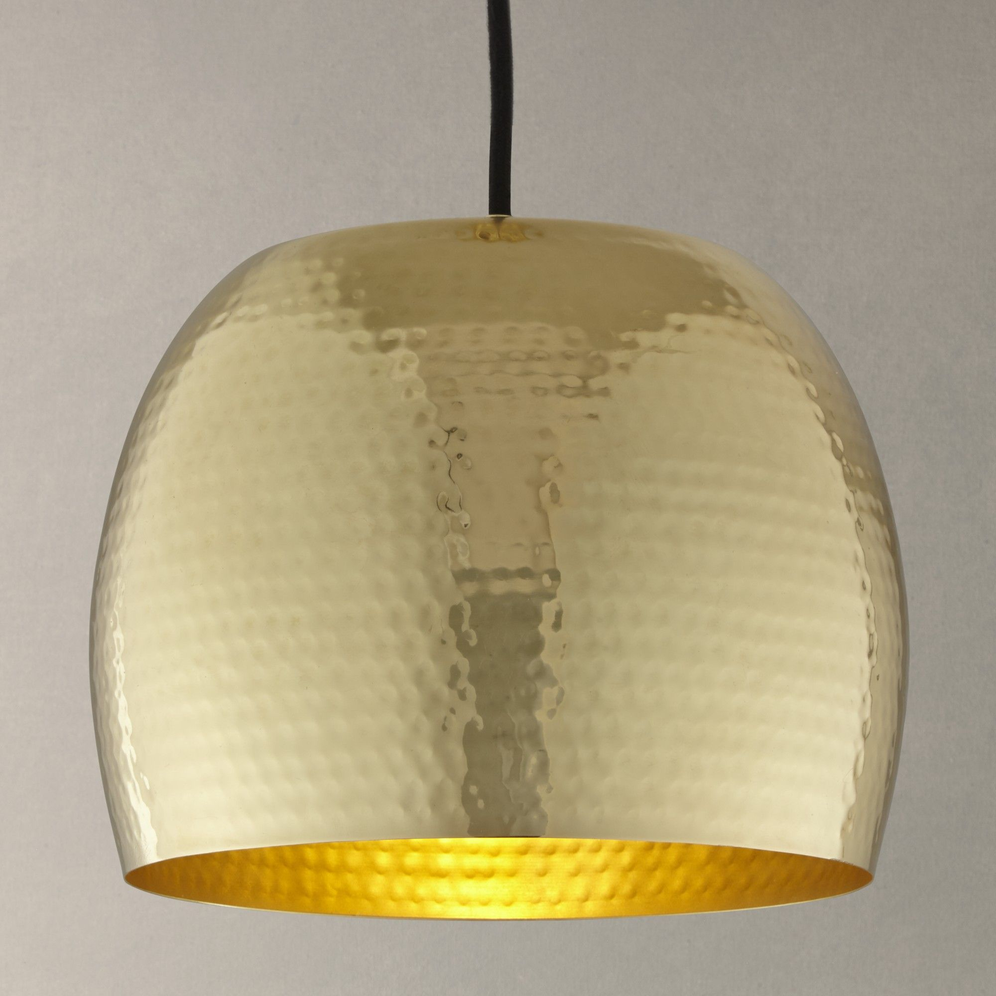 Buy John Lewis Thalia Hammered Brass Pendant Light From Our Ceiling Lighting  Range At John Lewis. Free Delivery On Orders Over