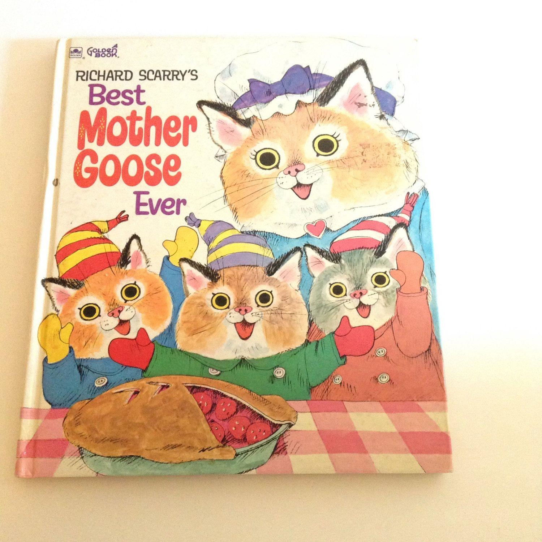 Vintage Children's Book Richard Scarry's BEST MOTHER GOOSE Ever 1970 Hardcover…