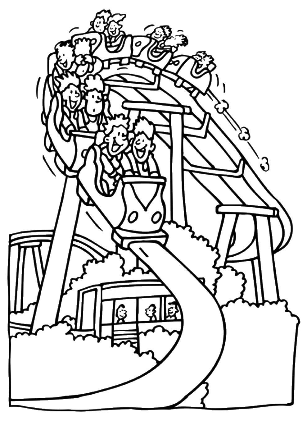 Coaster Coloring Pages Printable Roller 2020 Free Coloring