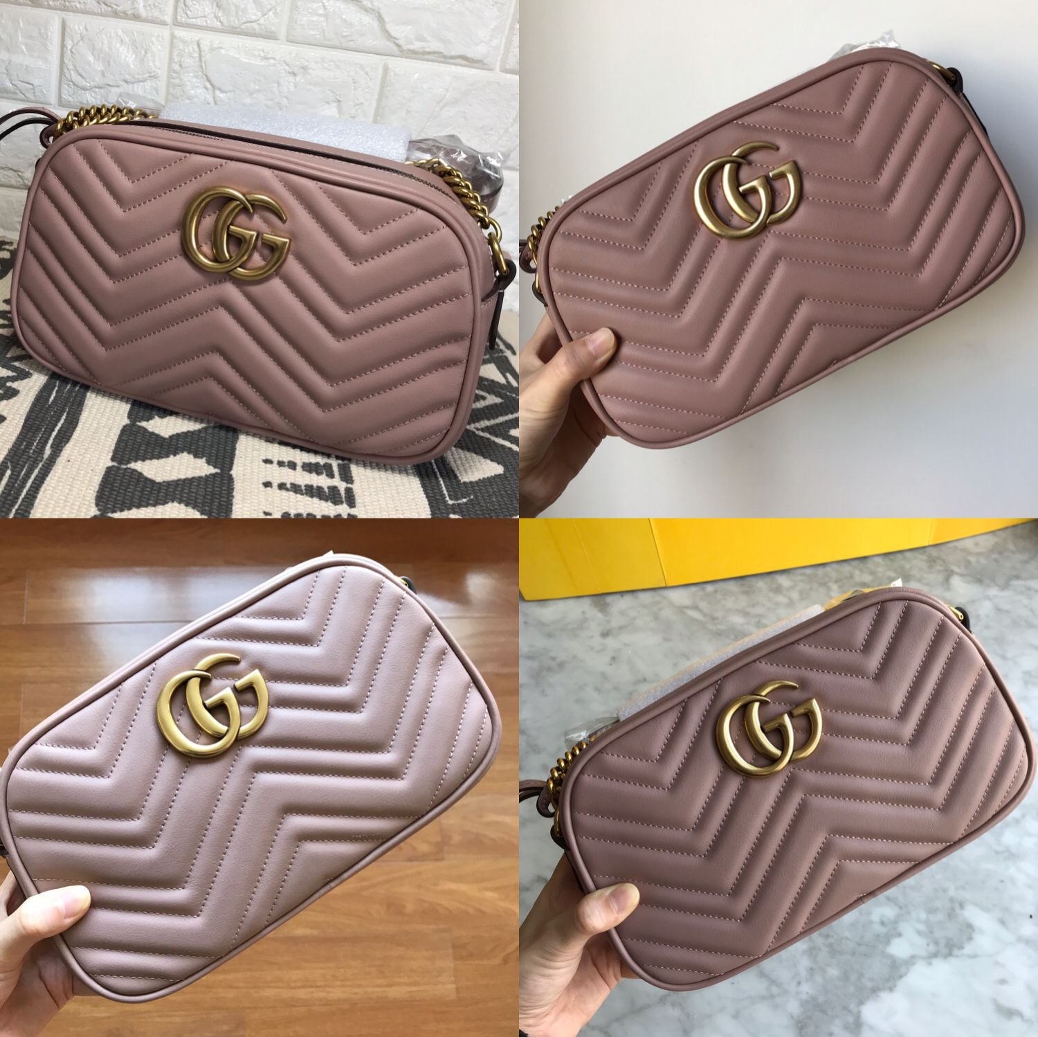 d8771c32b1f Gucci marmont camera bag 24cm nude pink color