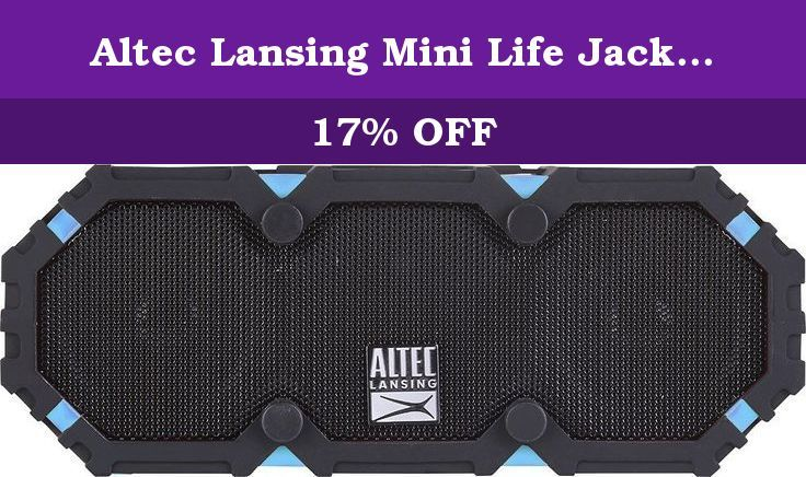 Altec Lansing Mini Life Jacket 3 Waterproof Bluetooth Portable Speaker Aqua Black Th Altec Lansing Wireless Speakers Bluetooth Bluetooth Speakers Portable