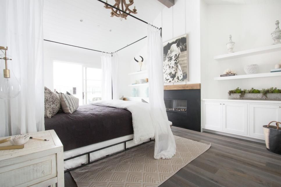 Best White Modern Cottage Master Bedroom With Built In 400 x 300