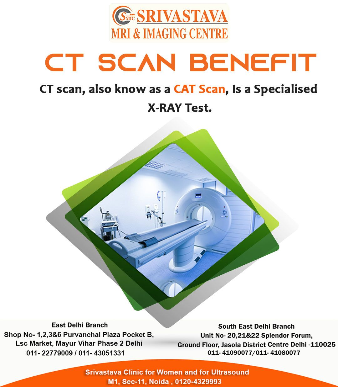 Best CT Scan Center in Delhi Srivastava MRI And Imaging