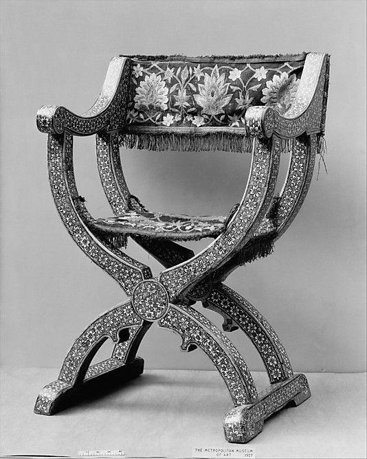 Chair, Folding,late 15th century Spain-Granada - Chair, Folding,late 15th Century Spain-Granada ANTIQUE