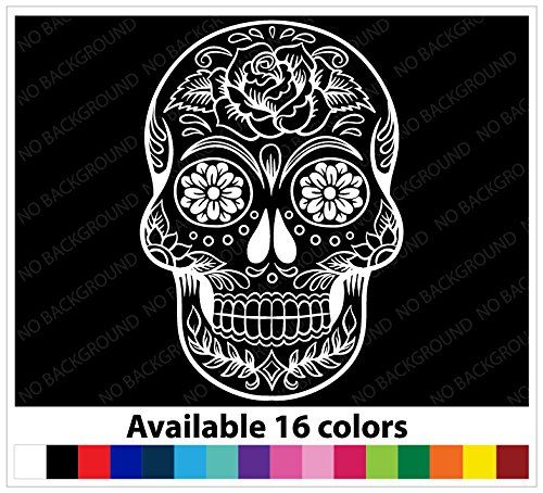 Osmdecals sugar skull sticker version 38 day of the dead vinyl wall home decor
