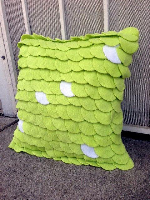 Pistachio  Green Fleece Pillow / Circle Pillow / Lime by ReeesaT