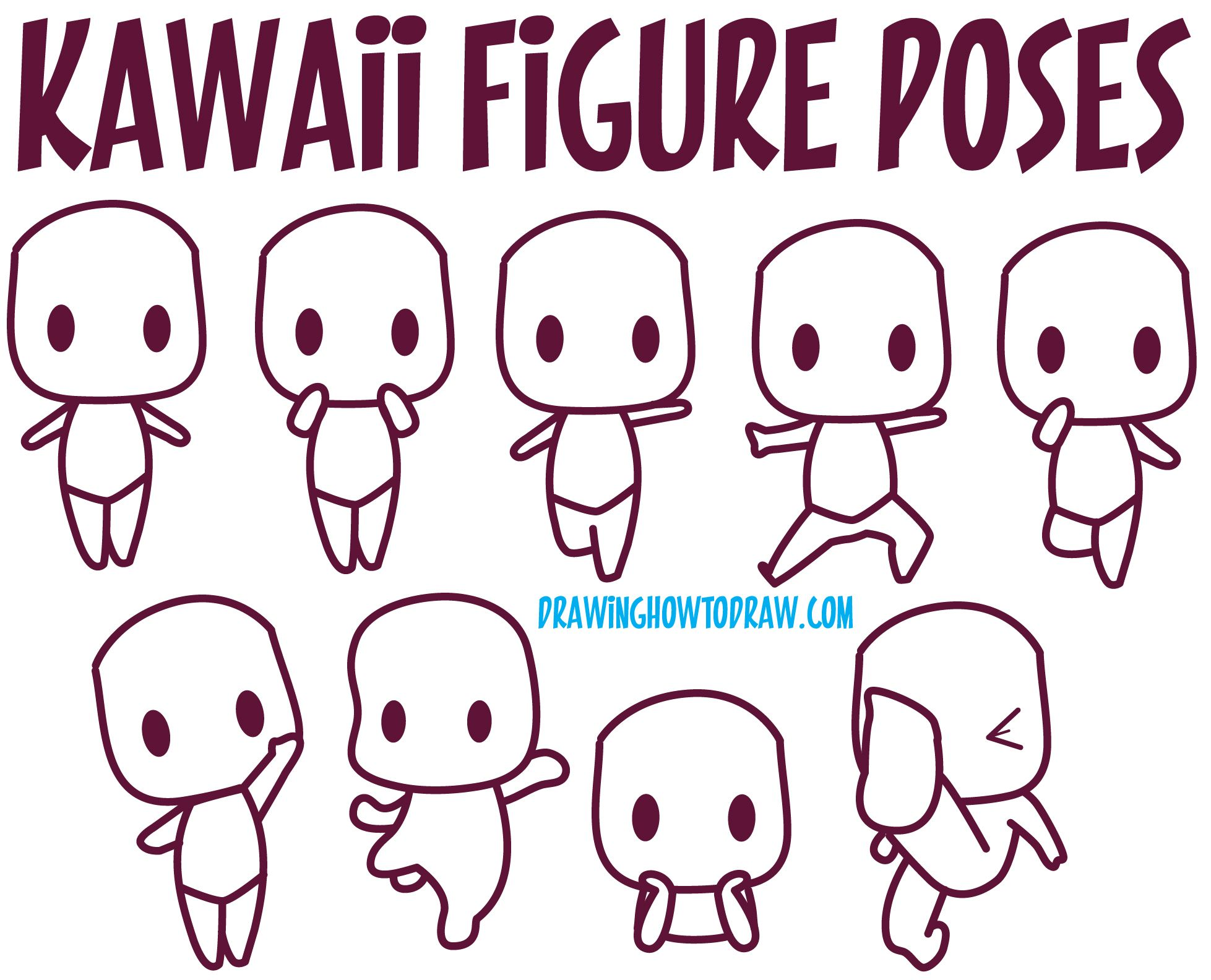 Guide to drawing kawaii characters part 1 how to draw for How to doodle characters