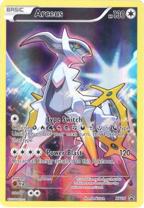 Pokemon Arceus XY116 Mythical Promo Holo M//NM