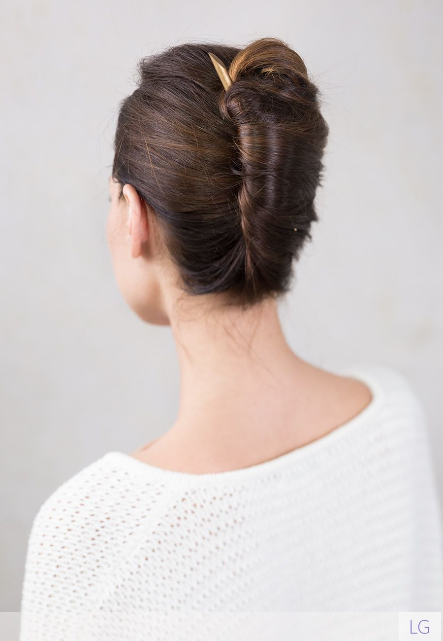 Simple And Elegant French Twist Bronzen Hair Stick Smooth Tapered Wood In A Lovely Bronze Color She Glows French Twist Hair Elegant Hairstyles Hair Styles