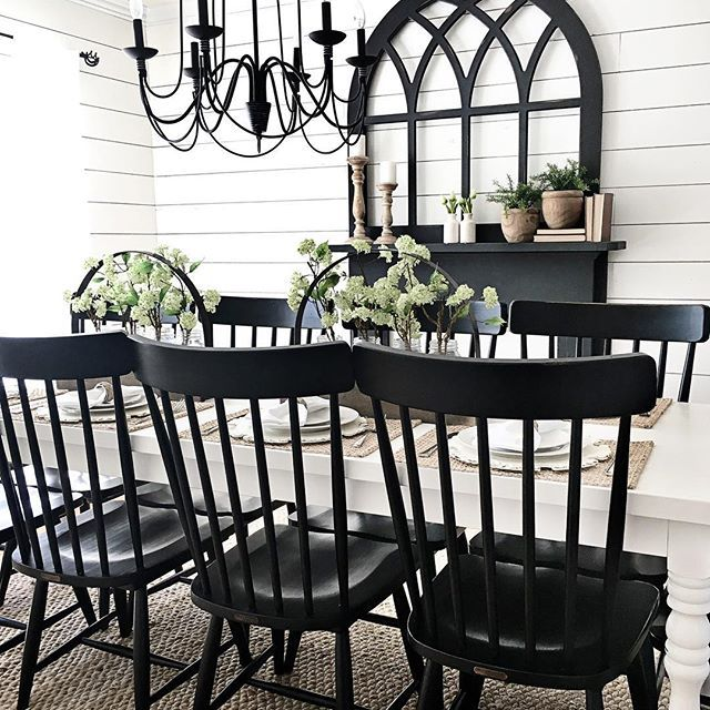 Even Though Fixer Upper Is Over For Now I M Loving All The Re Run Marathons On Tues Farmhouse Dining Rooms Decor Farm House Living Room Farmhouse Dinning Room #white #farmhouse #living #room #furniture