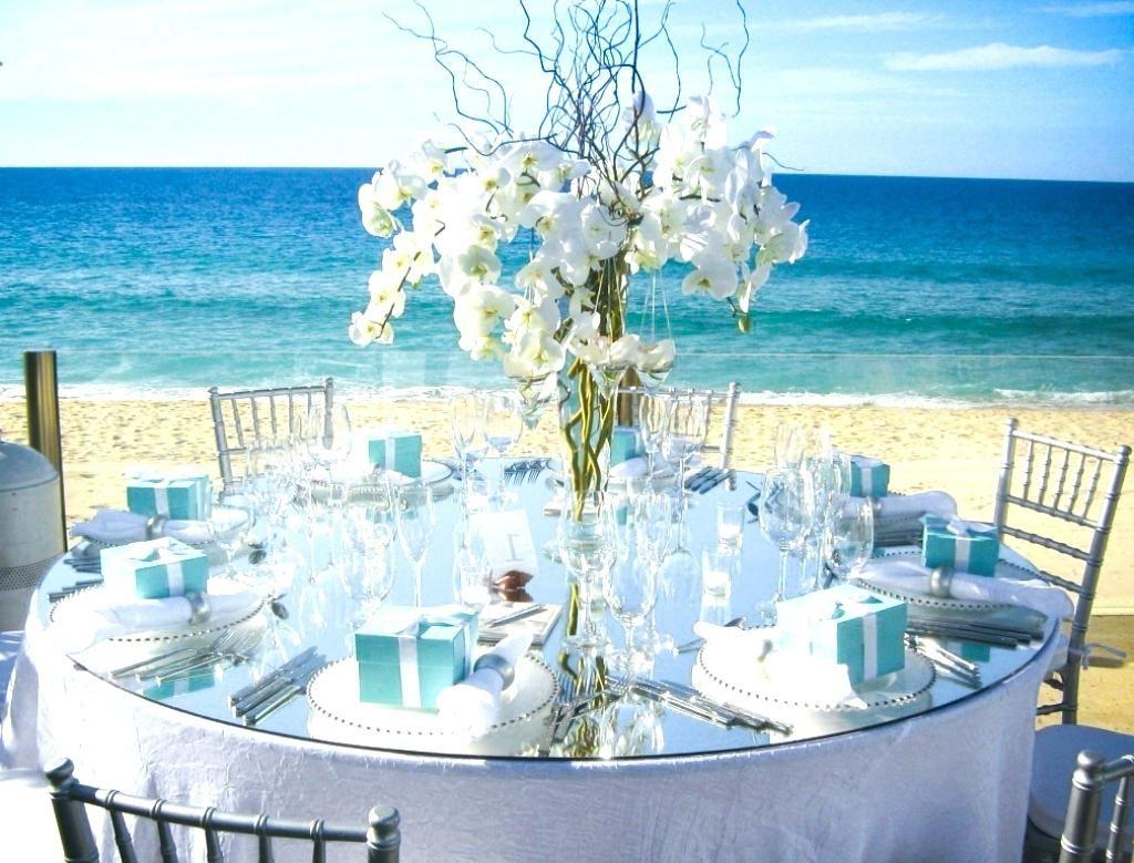 Beach theme wedding table settings table setting design