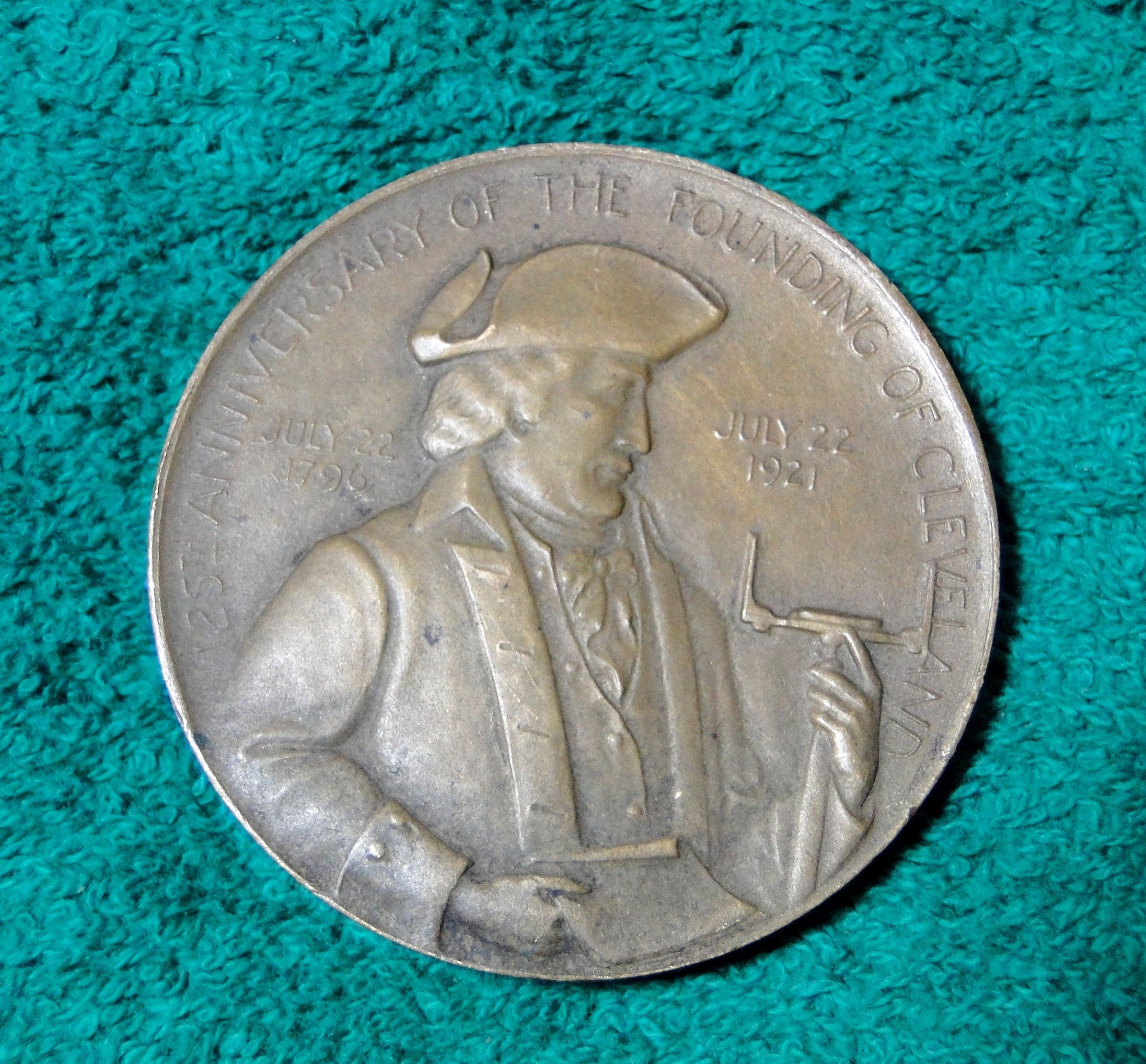 Cleveland Oh Medal Medallion 125th Anniversary Of The Founding Of
