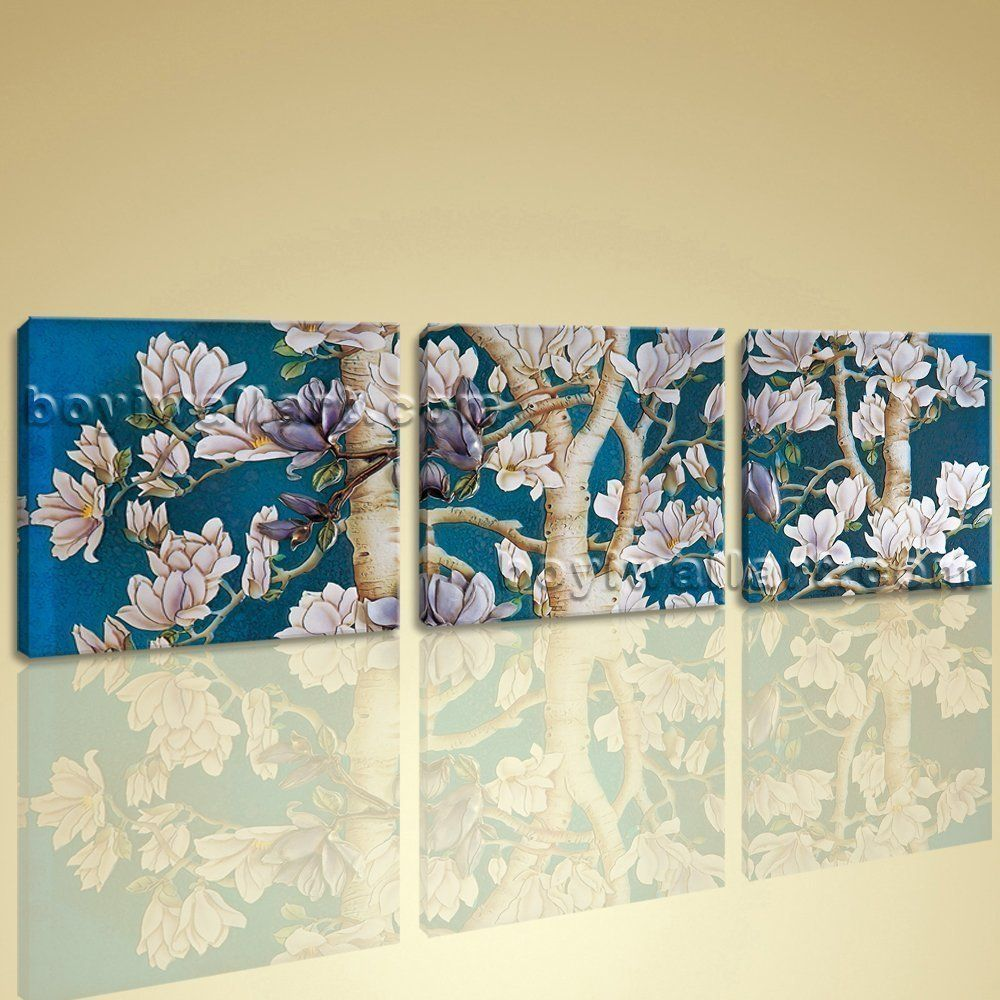 Large painting hd print pieces canvas wall art hd abstract floral