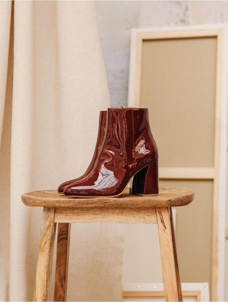 High Heel Boots Uptown Absolute Burgundy Bobbies Boots High Heel Boots Heeled Boots