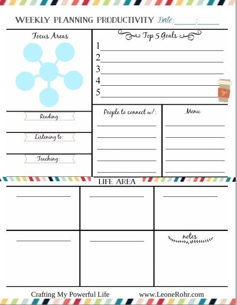 Weekly Planning is the key to success! wwwleonerohr for more - one week calendar template word