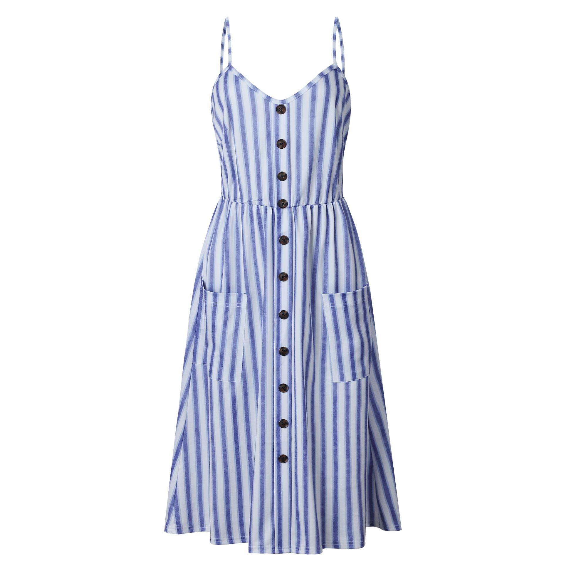 c4c9dcde81f3 Boho Floral Print Summer Dress Women V Neck Pockets Sleeveless Midi Dresses  Female Sunflower Pleated Backless Button Sexy Dress-in Dresses from Women s  ...