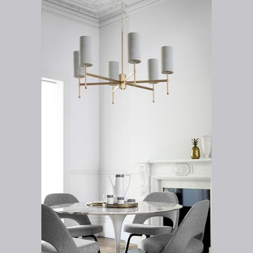 Modern white glass dining chandelier, contemporary beautiful