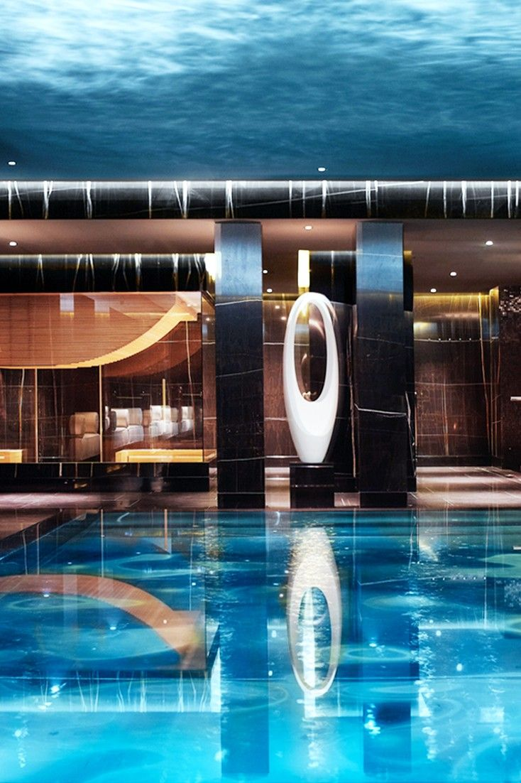 The On Site Spa At Corinthia Hotel London Features A Stainless Steel