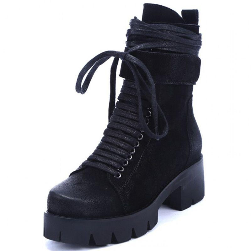 plateforme automne bottes talon compensé Chaussures Femme avec la plate-forme plus unique mode femme bottes occasionnels,marron,36