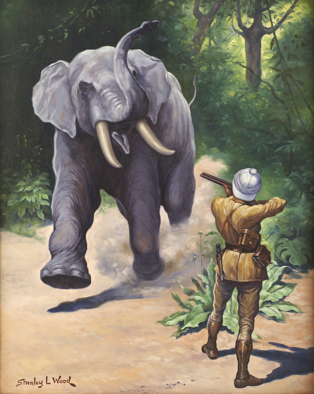 Elephant Hunter, Book Illustration From
