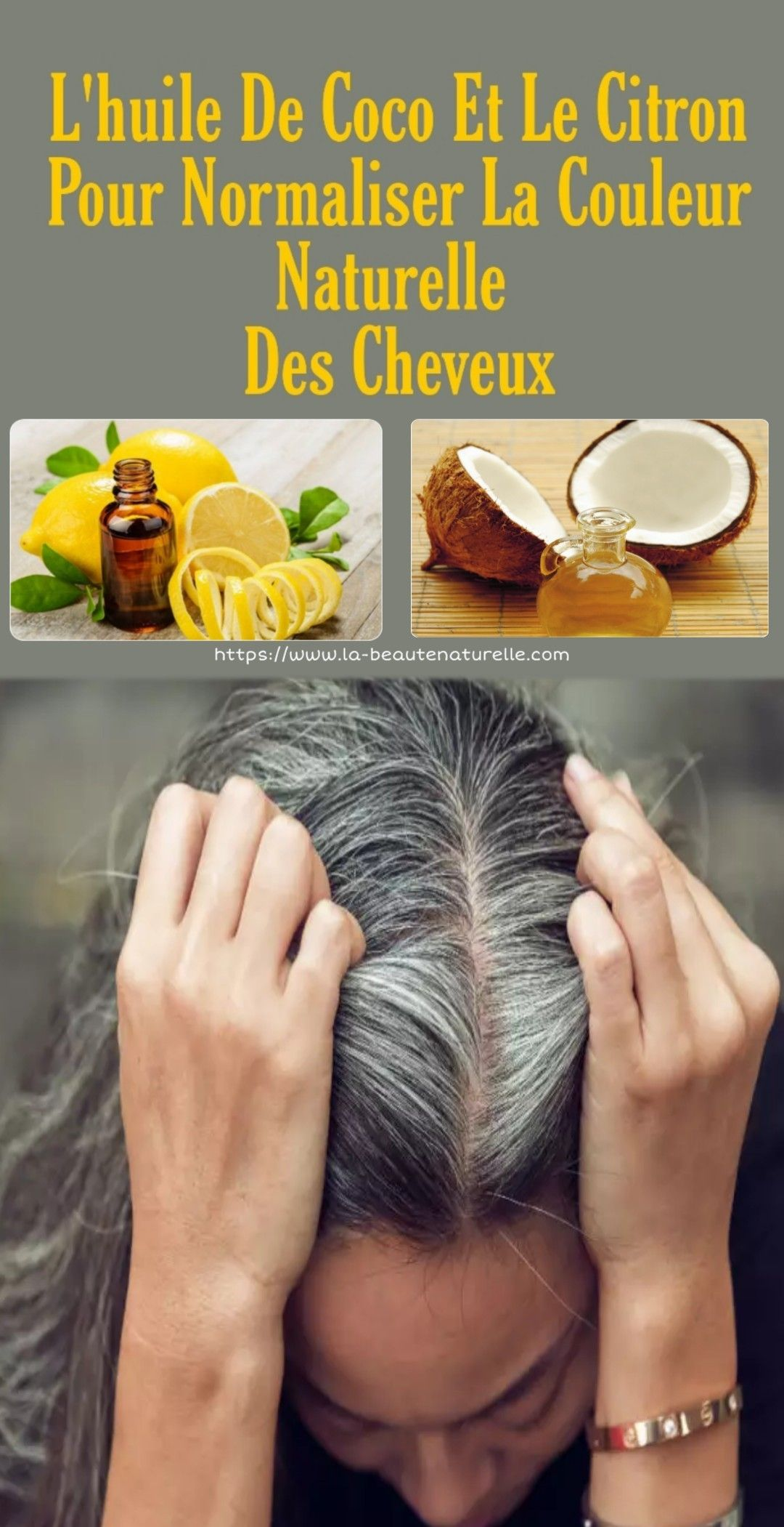 Photo of Coconut oil and lemon to normalize the natural color …