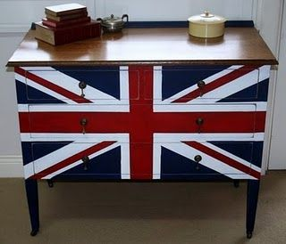 my first union jack chest of drawers