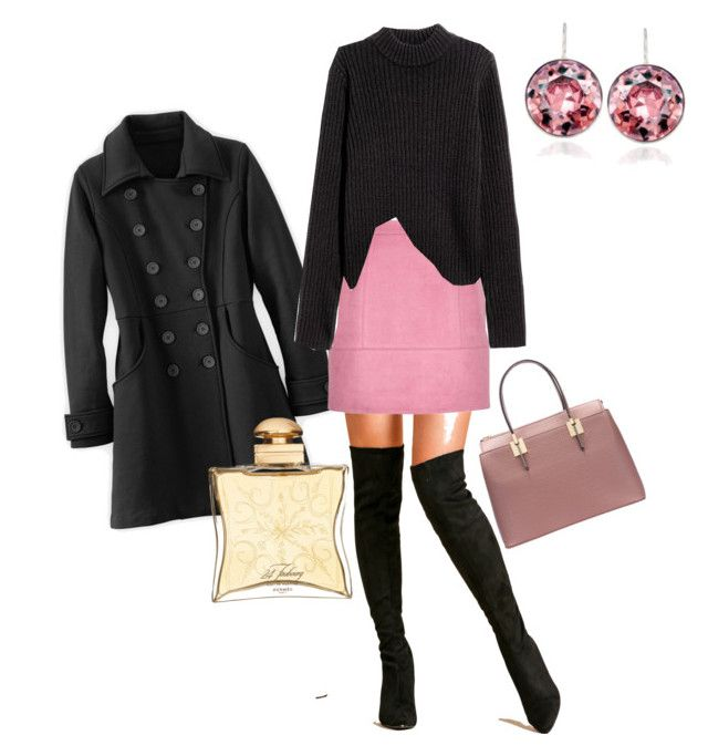 """""""Pretty In Pink"""" by kindella on Polyvore featuring Hermès and Swarovski"""