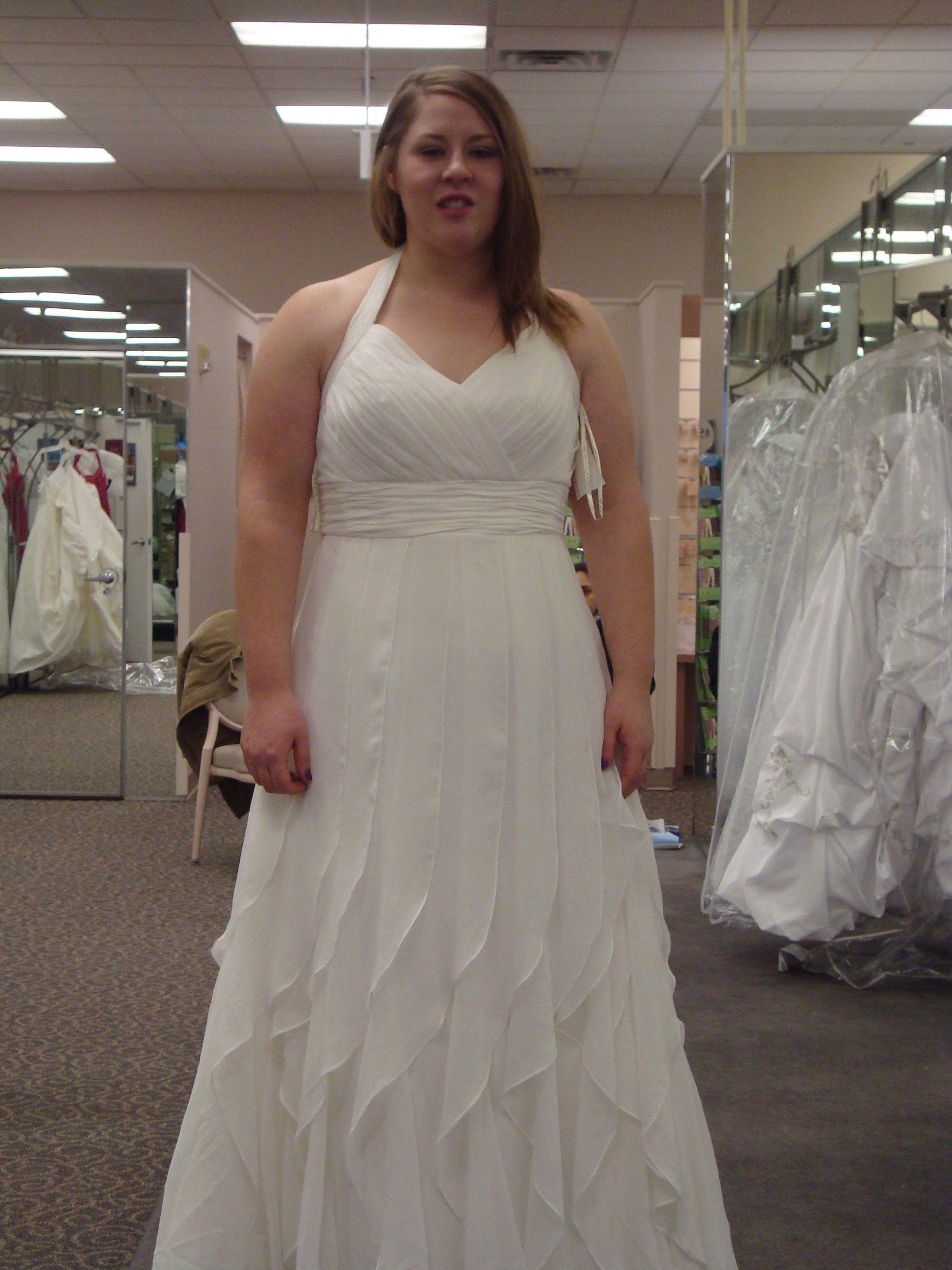 2017 Y Halter Wedding Dresses Chiffon Bridal Gowns Plus Size 18 20 22