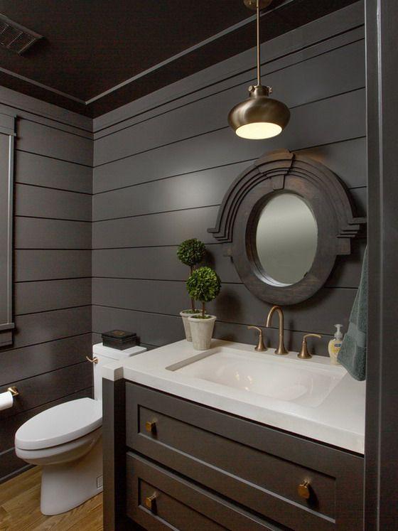 Charcoal grey vanity don 39 t like dark walls bathroom jt for Charcoal grey bathroom accessories
