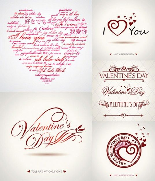 Valentine S Day Vector Graphics Wordart Tipografia Pinterest