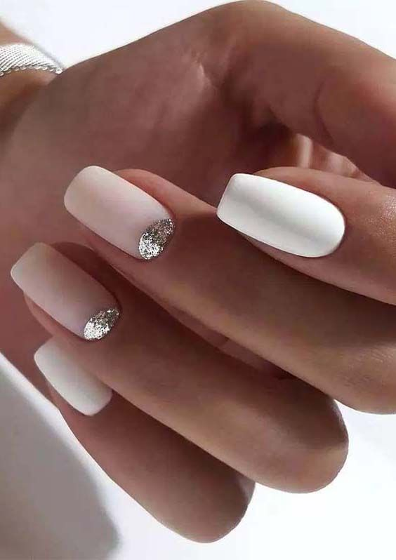 Cutest Pink And White Nail Art Designs To Create In 2018 Fashionsfield Mauve Nails White Nails Pink Nails