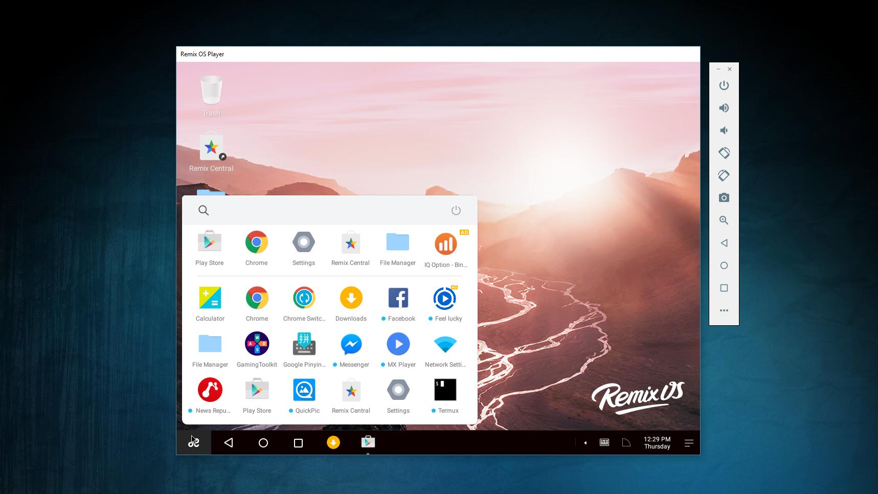 Remix Os Player Nuevo Emulador Gratuito Para Usar Android En Windows Descubreelfuturo Desktop Screenshot