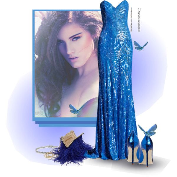 Blue Like I've Never Known by victoria1961notags on Polyvore featuring Manolo Blahnik, Kate Spade, Miadora, Hoorsenbuhs, Naeem Khan and victoria1961
