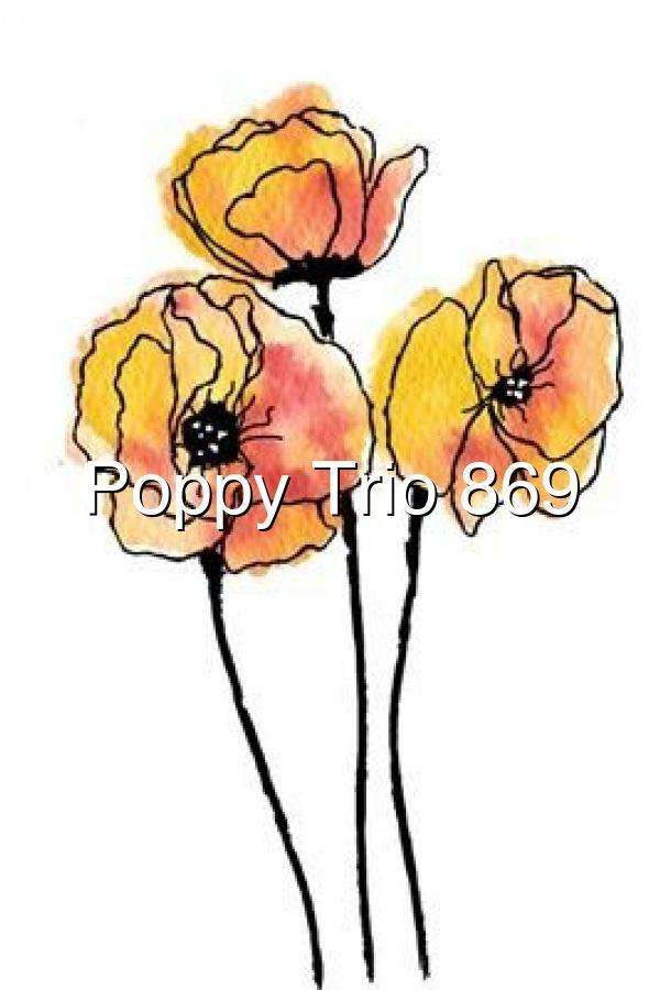 Poppy Trio 869 watercolorarts