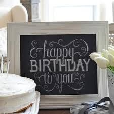 Happy Birthday Chalkboard Art Marchant Could You Cut A Vinyl Like This