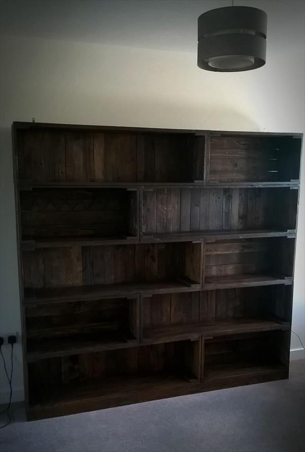 Pallet Large Bookcase   Pallet Furniture DIY