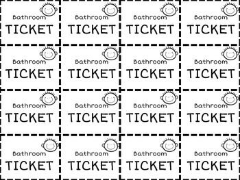 image about Bathroom Pass Printable named Printable Rest room Tickets Clroom: Command