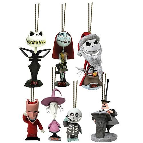 NBX Mini Head Knocker Ornaments Set of 7 - NECA - Nightmare Before ...