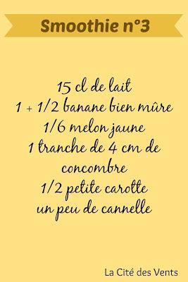 recette smoothie 3: lait, banane, melon jaune, concombre [La Cité des Vents]