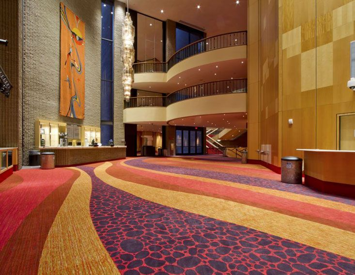 Phoenix Symphony Hall Phoenix, AZ PRODUCTS Custom CYP carpet DESIGN FIRM Architectural Resource Team. Shaw Hospitality Group Custom Tufted Carpet.